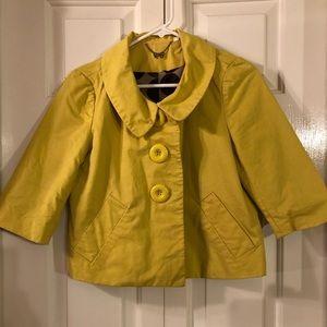 Yellow Babydoll Crop 3 Jacket